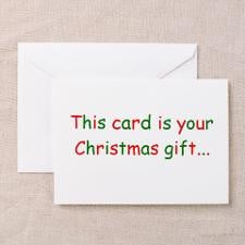 Sarcastic Christmas humor Greeting Cards (Package for