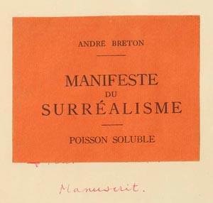 Manifiesto Surrealista- André Bretón, 1924
