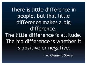Clement Stone Positive Attitude