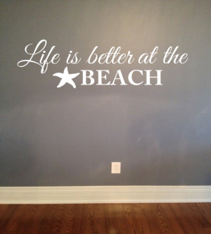 the beach wall decal - Vinyl Lettering Wall Words Decal Nautical Beach ...