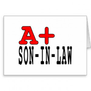 Funny Gifts for Sons in Law : A+ Son in Law Greeting Cards