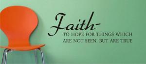 FAITH quote decal sticker wall vinyl god religion