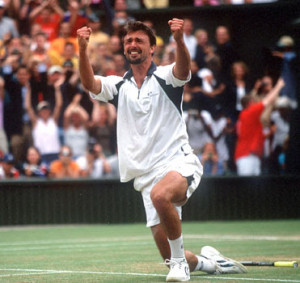 Goran Ivanisevic: This looks a bit like the cover of Platoon I reckon ...