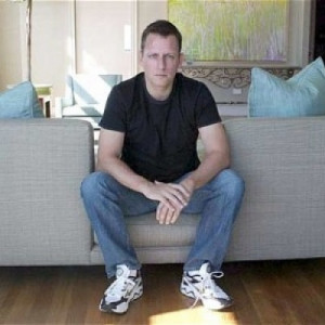 Peter Thiel in his home