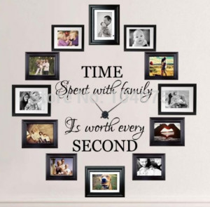 Time Spent with Family Wall Sticker Quotes and Sayings Wallpaper ...