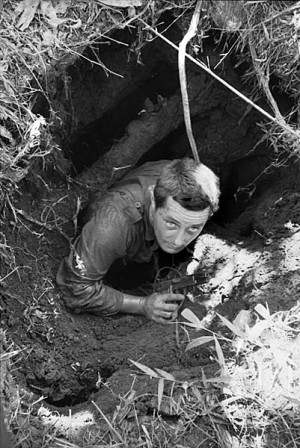 ... Viet Cong tunnel during Operation Enoggera, June 1966. [AWM CUN/66