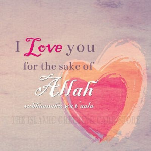 love you for the sake of Allah