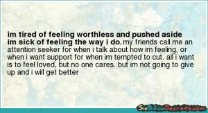 Im Worthless Hope - im tired of feeling
