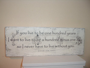 Winnie the pooh 100 years quote wooden sign plaque