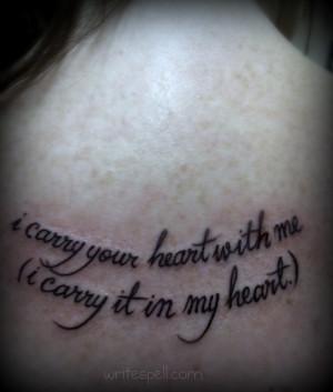 ee cummings quote tattoo