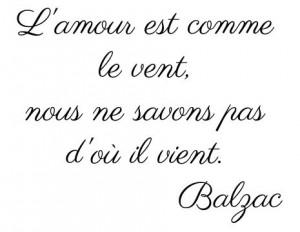 french balzac love quote basic english translation love is like the ...