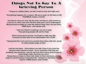 Things not to say to those grieving