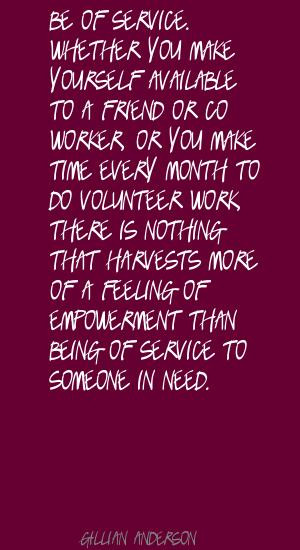 ... Or Co Worker Or You Make Time Every Month To Do Volunteer Work