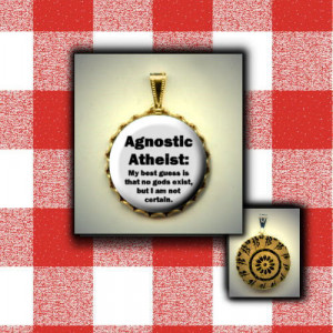 AGNOSTIC Theist Theism quote flat button CABOCHON in Brass Charm ...