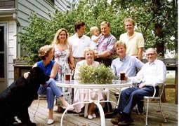 Family 1990 standing Debra Russ Austin Mel Tom seated