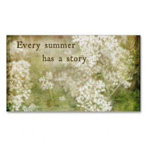Summer Quotes Business Cards