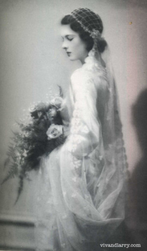 Vivien Leigh on her wedding day in 1932 (aged 19) to Herbert Leigh ...