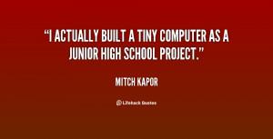 actually built a tiny computer as a junior high school project ...