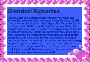 Gemini Astrological Compatibility to Astrological Compatibility Page ...