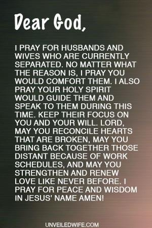Prayer: Comfort During Separation ---