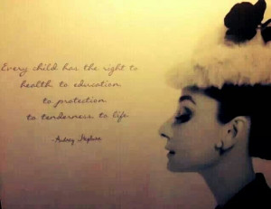 Audrey Hepburn quote about children