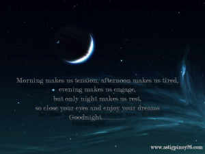 Only Night Make Us Rest ~ Good Night Quote