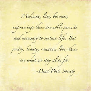 Dead Poets Society Quotes Dead poets society quote