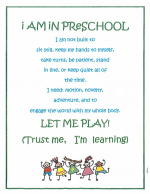am in preschool