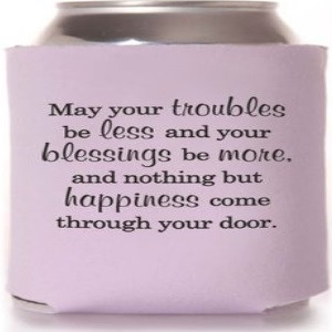 Favor wedding can coolers contain a huge variety of sayings printed in ...