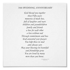 50th Anniversary Poems - Bing Images More