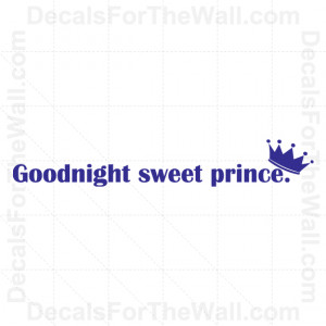 Goodnight-Sweet-Prince-Baby-Boy-Wall-Decal-Vinyl-Art-Sticker-Quote ...