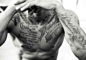 Bible Quote Tattoos Chest
