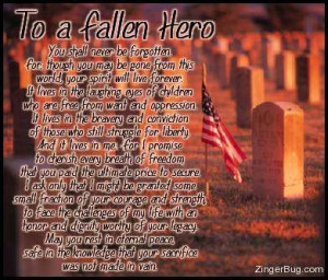 To a Fallen Hero Memorial Graphic Glitter Graphic Comment
