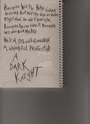 The Dark Knight Quote by BFMVIDRAWWHENASSED