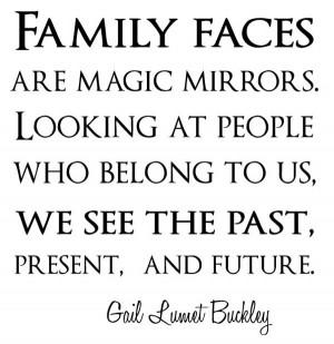 En een quote m.b.t. family faces .