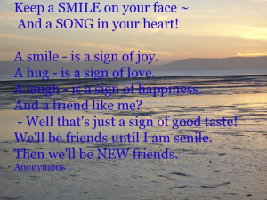 Keep a smile on your face