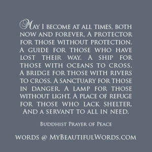 Buddhist Prayer of Peace...