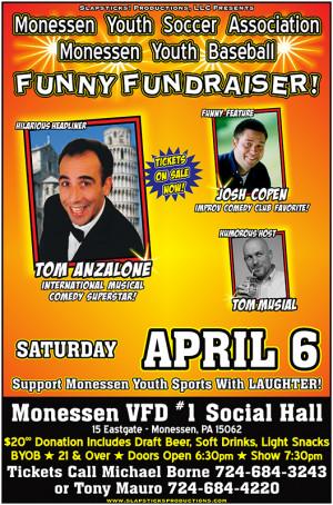Monessen Youth Soccer Association & Youth Baseball Funny Fundraiser