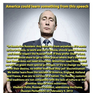 Putin telling you how it is.