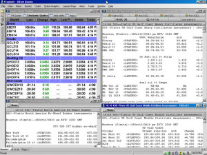 ... desktop of someone who was tracking data on oil and gas pipelines