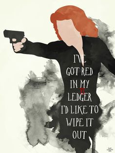 ve got red in my ledger #quotes | The Avengers #fanart More