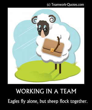 Funny ANTI Teamwork Quotes and Posters