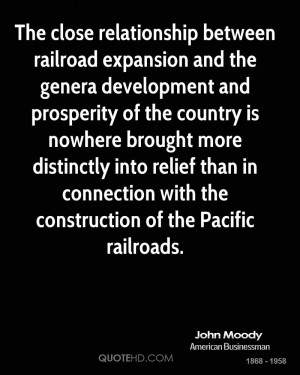relationship between railroad expansion and the genera development ...