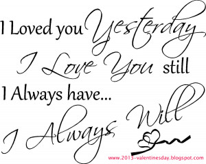 Valentines day I love you Quotes 2014