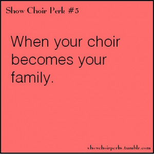 Show Choir Perks