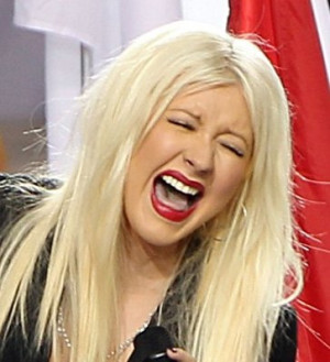 Christina Aguilera talks National Anthem slip-up