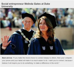 Melinda Gates Inspirational Quote.