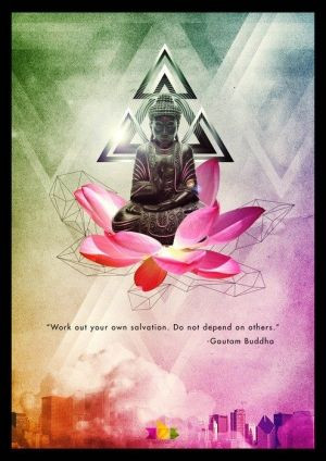buddha quote lotus flower