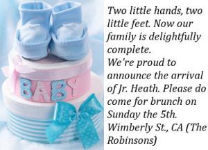 Birth Announcement Templates