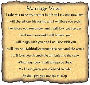funny wedding vows for him